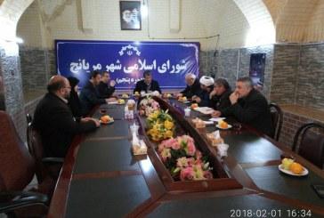 حضور امیر خجسته در صحن شورای شهر مریانج