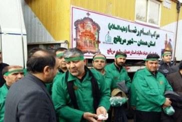 پذیرایی از ۳ هزار زائر در موکب امام رضا(ع) مریانج