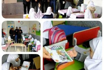 ترویج فرهنگ شهروندی در مدارس / اهدای کتابهای داستان به دانش آموزان