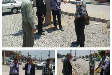 بازدید شهردار مریانج از پروژههای عمرانی بلوار ارتش