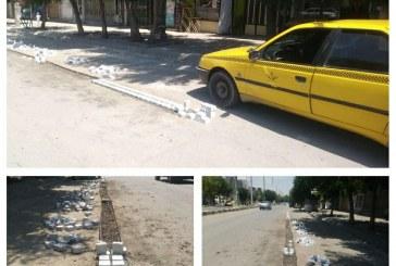 نصب جدا کننده ایستگاه تاکسی میدان شهید بهشتی