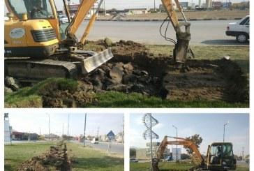 احداث مخزن ذخیره آب جهت آبیاری فضای سبز بلوار ارتش / آبیاری بلوار مکانیزه میشود