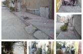 بهسازی پیادهرو کوچه شهید سبزی