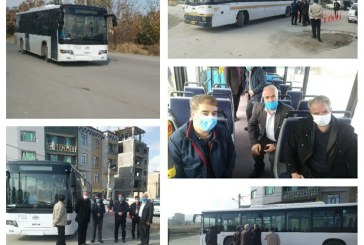 خط اتوبوسرانی کوی آفتاب، کوی زیبا و مسکن مهر افتتاح شد