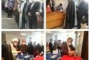 حضور امام جمعه و شهردار مریانج پای صندوق رأی